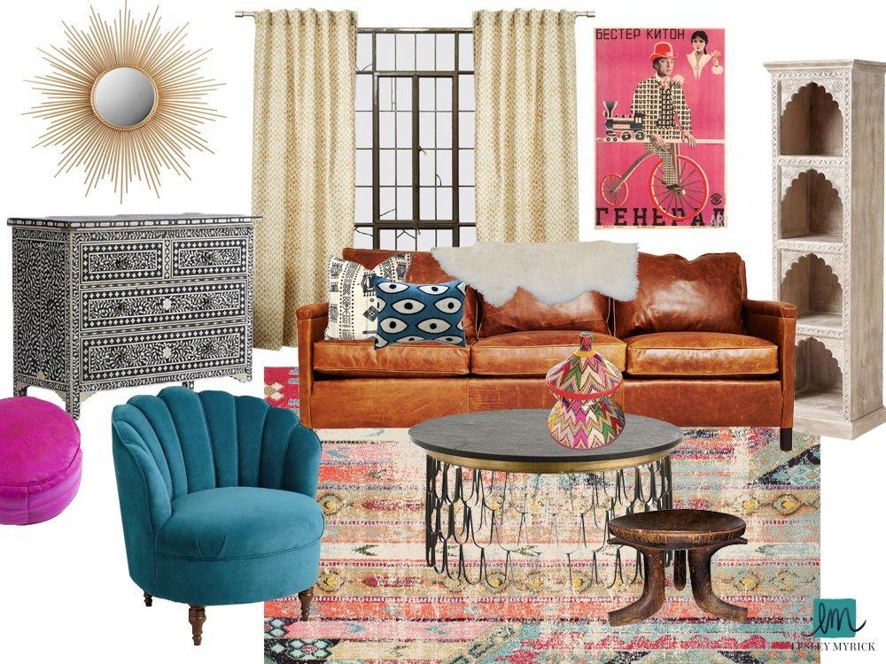 Silverlake Modern Bohemian Living Room