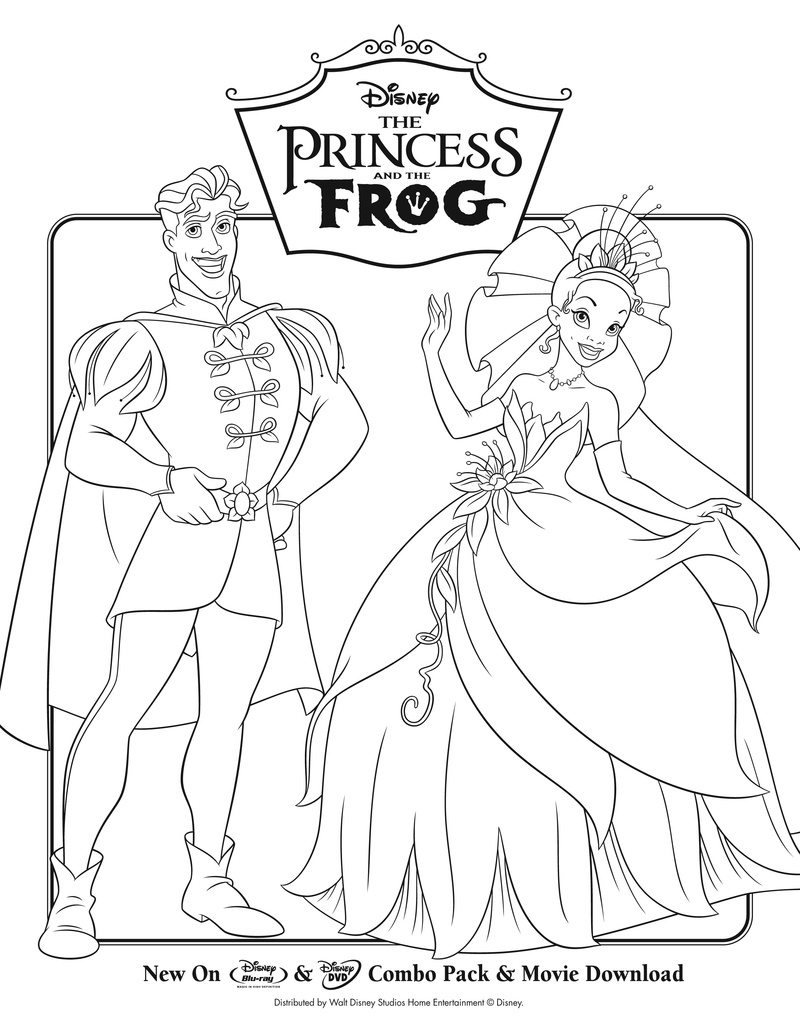 Life with Lesley: FREE The Princess & The Frog Coloring