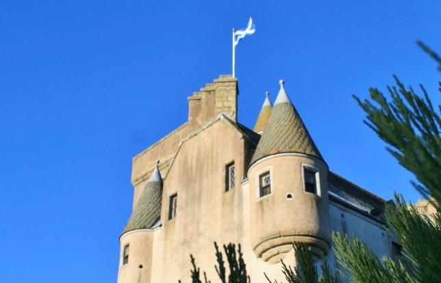 Castle Leslie and Saltire