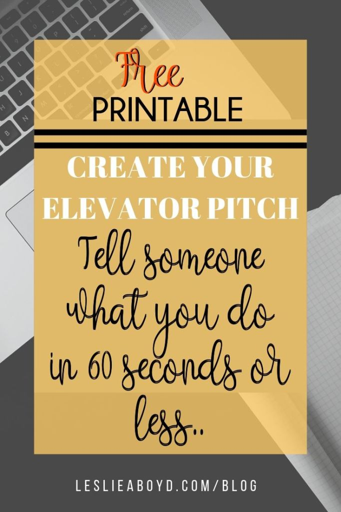 Step by Step guide to create your elevator pitch.