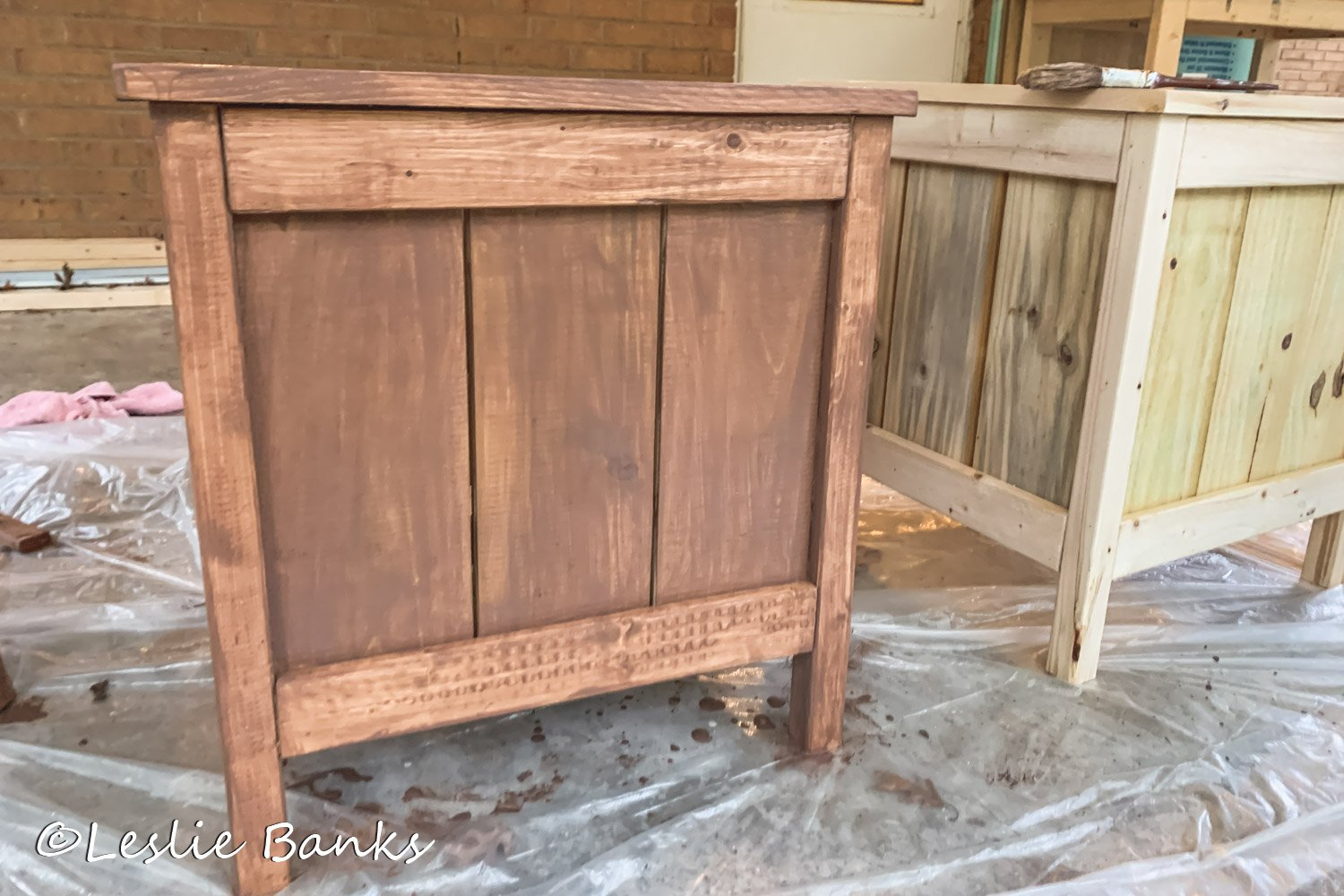 Planter Box Stained