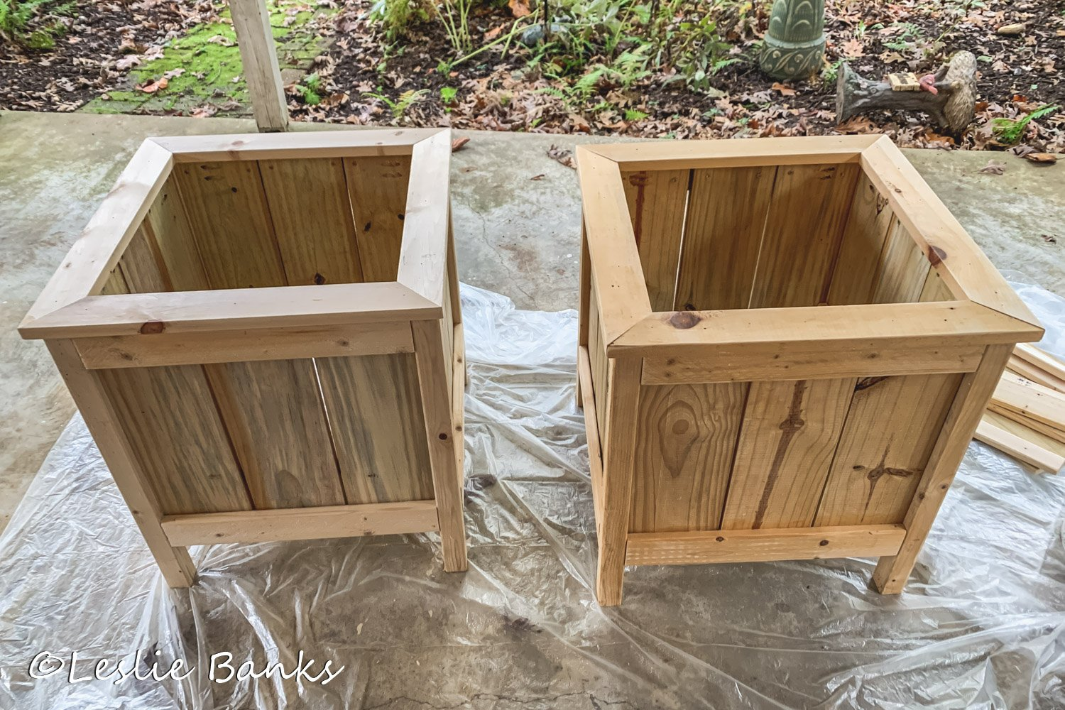 Unfinished Planter Boxes