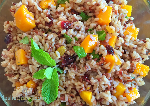 Roasted Butternut Squash Wild Rice Pilaf