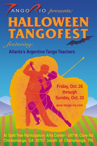 Tango Halloween Event Postcard