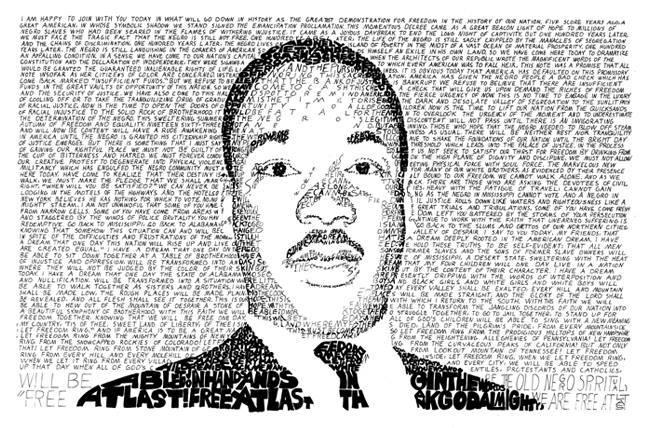 MLK in words
