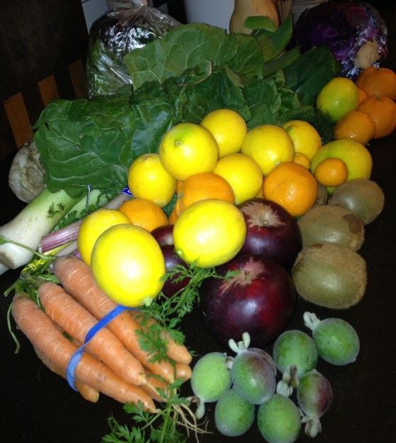 my weekly produce box from Capay Farm