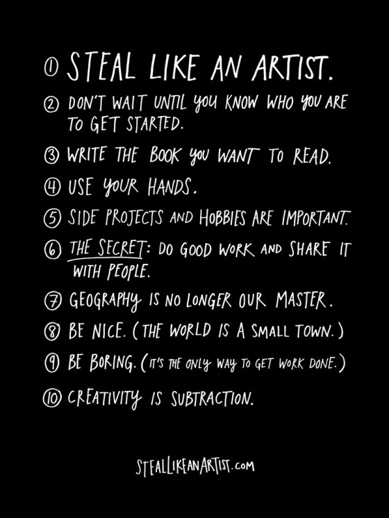 courtesy Austin Kleon, Steal Like An Artist