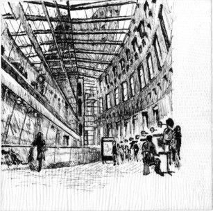 Runners-Up Non-Registered, John Devlin, Architect, Cooper Carry; Alexandria, VA Napkin Sketch Title: Vancouver Public Library