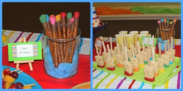 Paint Birthday Party Idea