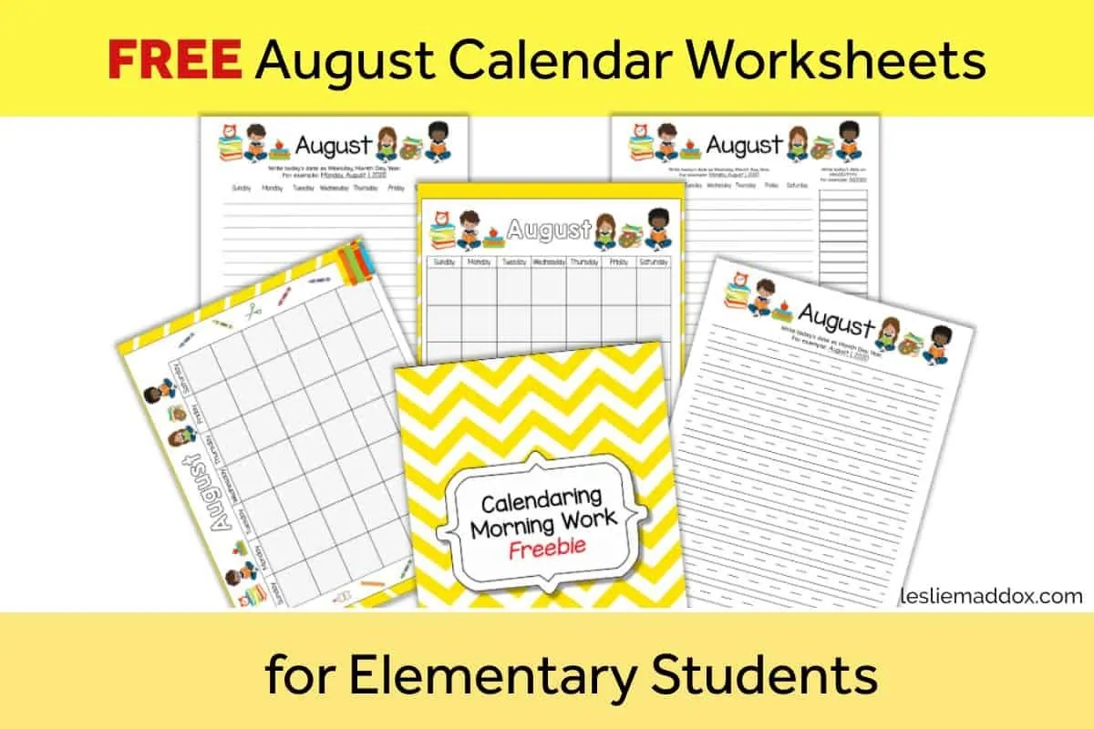 hight resolution of FREE Printable Homeschool Worksheets for Morning Work - Leslie Maddox