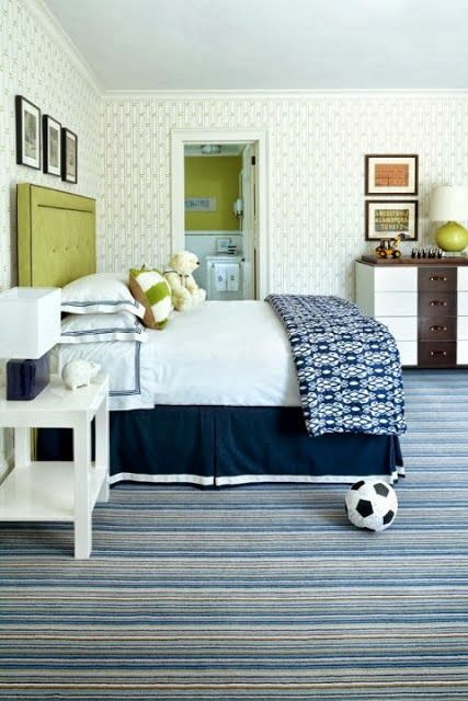 One of my favorite color combos for a boys room...navy and green. mychicdesign.com