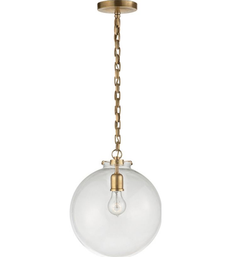 katie fitter pendant with glass globe – Circa Lighting