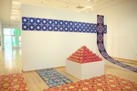 Yarmulke Tower and Logo Ramp, dimension variable with site specific installation, mixed media, 2011.