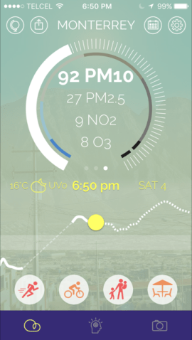 Example of current Plume app data.