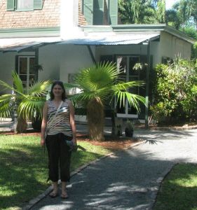 Me at Hemingway's house in Key West, FL.