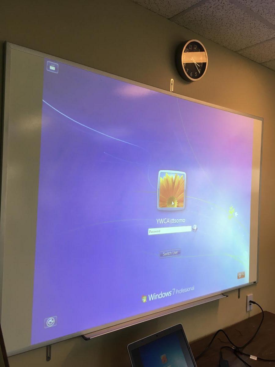 hight resolution of projector installation