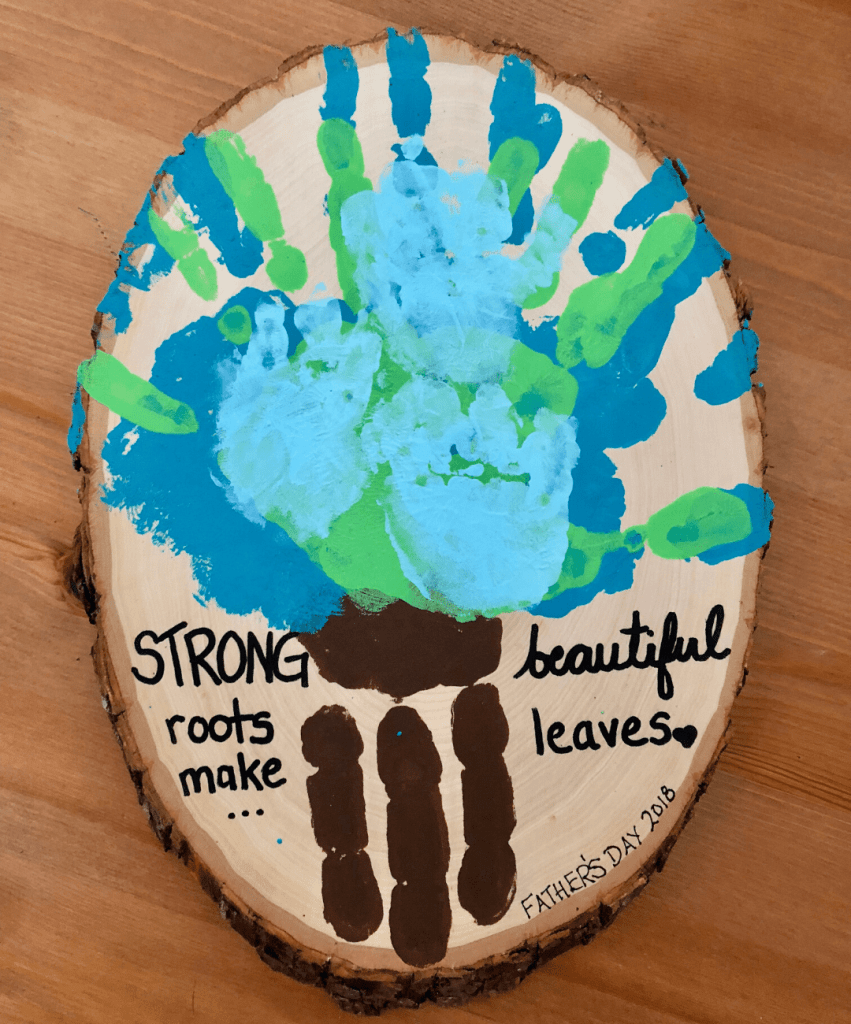 strong roots make beautiful leaves father's day craft
