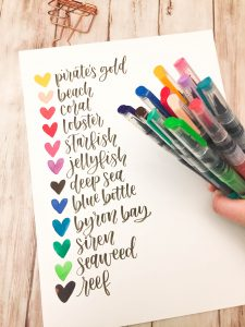 Things To Draw With Markers : things, markers, Davenport, Mermaid, Markers, Galaxy, Lettering, Leslie, Writes