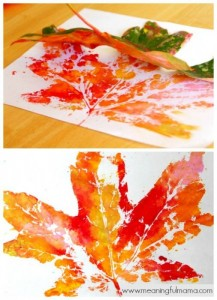 Fall Leaf Prints from Meaningful Momma