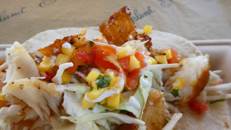 The fish tacos at the Snack Shak at The Beach Club at The Cloister on Sea Island are legit.
