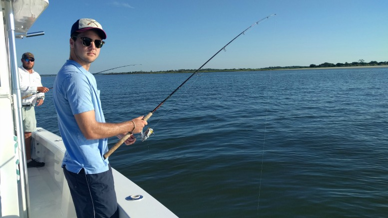 At Sea Island you can fish off the pier or charter a boat.