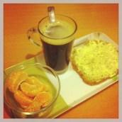 Le petit déjeuner préparé par mon chéri ♥