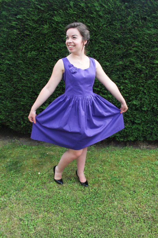 Robe violette à pois turquoises - Les lubies de louise (5 sur 9)