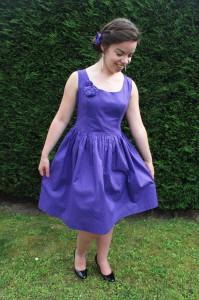 Robe violette à pois turquoises - Les lubies de louise (7 sur 9)