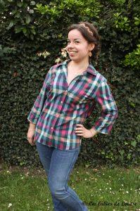 Chemise à carreaux pour Alice - Les lubies de louise-3