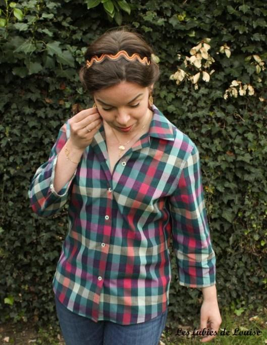 Chemise à carreaux pour Alice - Les lubies de louise-9