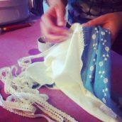 Cours personnel de couture, on apprend à faire une robe