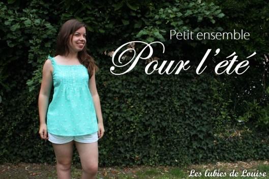 Top flamands menthe et short broderie anglaise - Les lubies de louise-titre