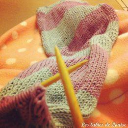 Mon tricot avance aussi...