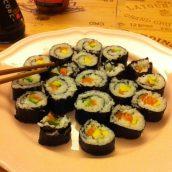 On a mangé des sushis maison