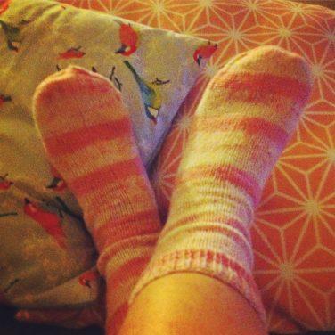 Ma maman m'a tricoté des chaussettes trop chouettes