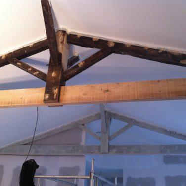 Un ami nous a peint le plafond, merci !