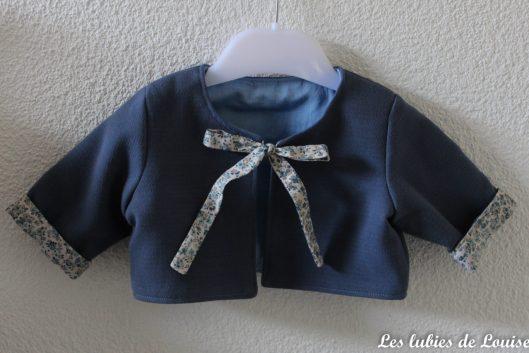Ensemble robe et gilet de bébé - les lubies de louise-16