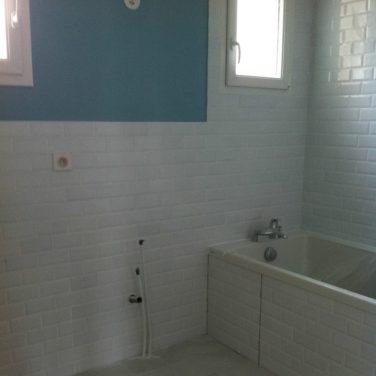 La salle de bain sera bleue !