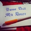 La calligraphie de mon chéri