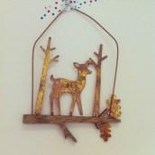 Mon atelier a aussi sa petite déco de Noël