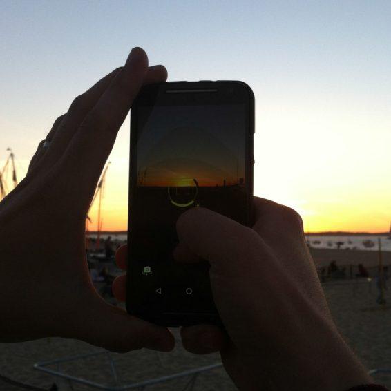 Coucher de soleil sur arcachon