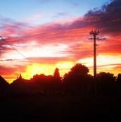 Ciel de feu à la campagne