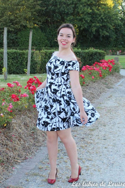 Seda dress pauline alice black and white- les lubies de louise-9