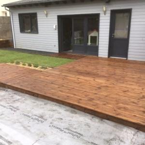 terrasse gazon de placage aménagement végétal paysagiste rouen 76 27