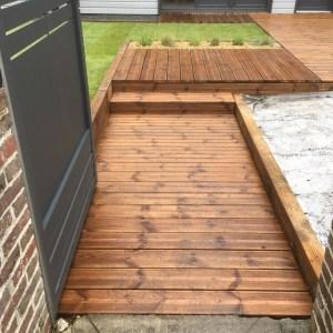 terrasse gazon de placage aménagement végétal