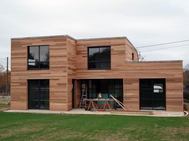 Maison Moderne Bois Impressionnant Plan Maison En Bois ...