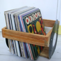 bac a disques vinyles les manches