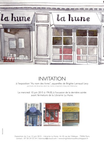 Au nom des livres - invitation