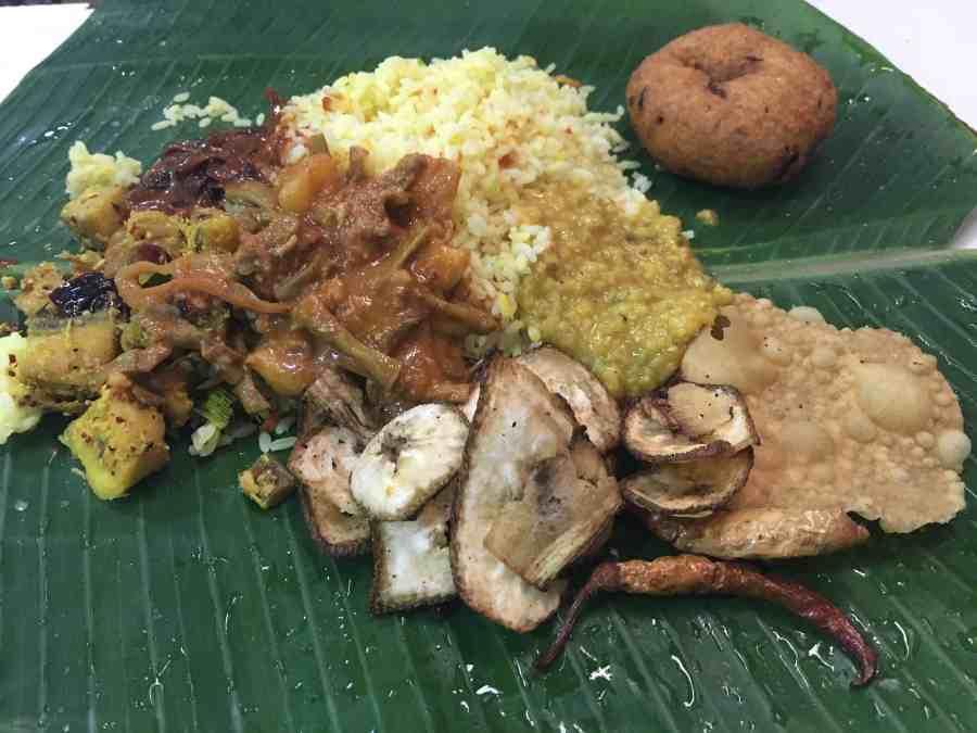Plat srilankais à Jaffna