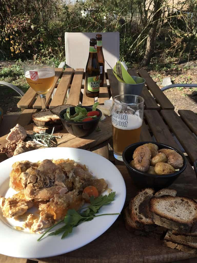 rieulay-terrasse-biere-biologique-agricool-hauts de france-restaurant-plat-régional